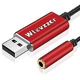 Adaptateur audio USB vers jack 3,5 mm, USB vers 3,5 mm TRRS femelle 4 pôles, carte son stéréo à puce intégrée, convient pour casque, PS4, PC, ordinateur portable, ordinateurs de bureau, haut-parleur