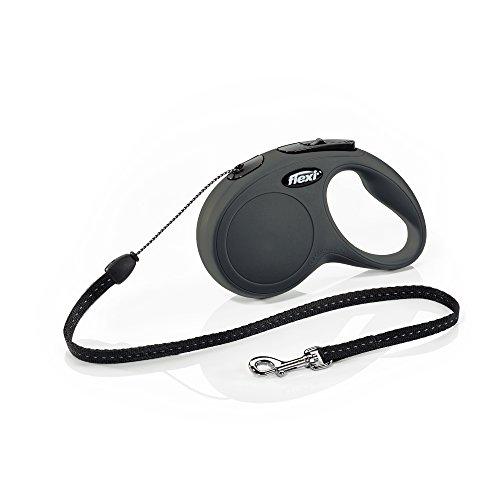 FLEXI New Classic Retractable Dog Leash (Cord), 16 ft, Small, Black