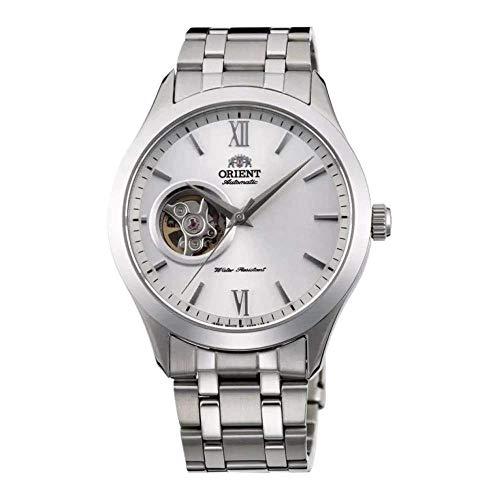 Orient Unisex Erwachsene Analog Automatik Uhr mit Edelstahl Armband FAG03001W0
