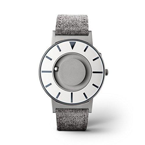 eone Bradley Compass Graphite Unisex Uhr - Leder/Stoff Armband grau BR-COM-GRPT