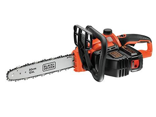 BLACK+DECKER Tronçonneuse sans fil - Li Ion 36V GKC3630L20 avec batterie et chargeur - Idéal pour le travail du bois et le jardinage - Longueur d'épée de 30 cm