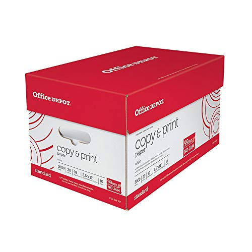 Office Depot White Copy Paper, 8 1/2in....