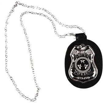 Onsinic Badge Pendentif Collier Halloween Cuir Cuker Collier Sheriff Cosplay Accessoires Fournitures