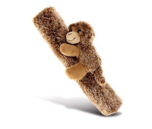 "CoTa Global Car Seat Strap & Belt Covers Plush Monkey, 10"" Soft & Comfortable Vehicle Chair Shoulder Pad, Multipurpose & Adjustable Leash Cover for Guitar, Messenger Bag & Camera, Kids & Adults, Brown"