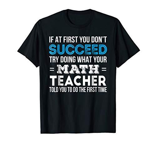 Funny Math Teacher Gift TShirt