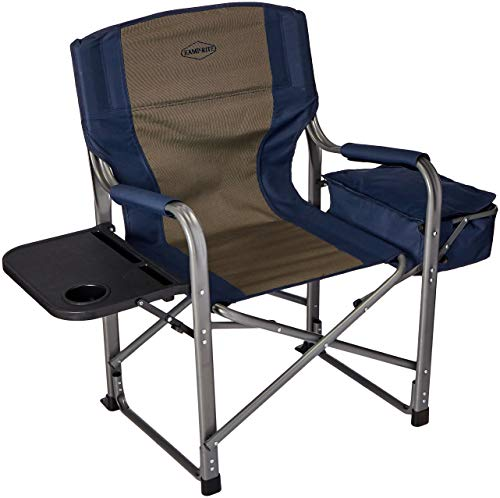 Kamp-Rite Director's Chair with Side Table & Cooler, Blue