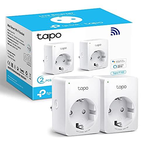 TP-Link TAPO P100 (2-Pack) - Mini Enchufe Inteligente WiFi, óptimo...