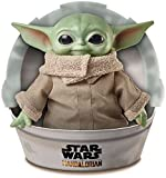 """Star Wars Grogu Plush Toy, 11-in """"The Child"""" from The Mandalorian, Collectible Stuffed Character for Movie Fans, Ages 3 Years and Older (Accessory)"""