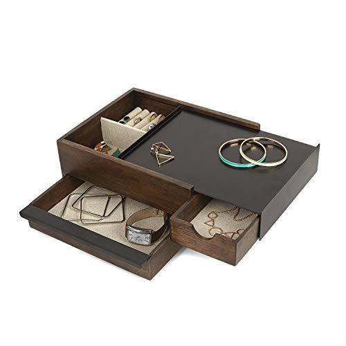 Umbra Jewelry Box - Modern Keepsake Storage Organizer with...