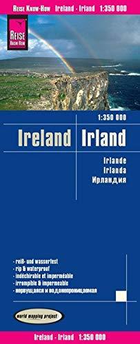 Irlanda, mapa impermeable de carreteras. Escala 1:350.000 impermeable. Reise Know-How.