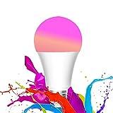 (UPGRADED) Ampoule LED E27, 1S Ampoule Couleur/RBGW Intelligente 8.5W 800lm 1700K-6500K Lampe à LED APP WiFi Télécommande Fonctionne avec Homekit Google Assistant