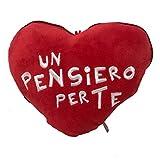 Spupazzosi Peluche con Frase de Amor en Forma de corazn con Cremallera - Dimensiones 10x15cm Aprox.