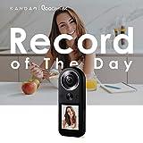 アクションカメラ 360度カメラ KANDAO QooCam8K 世界最小 の8K360度カメラ 2.4インチタッチスクリーン