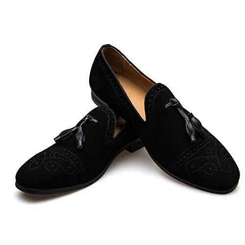 JITAI Hombres Vintage Velvet BV Bordado Noble Mocasines Zapatos Mocasines Mocasines Mocasines Borla Mocasines …