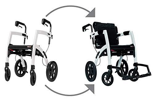 Rollz Motion 2-n-1 Rollator Transport Chair (Pebble White)