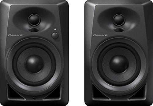 Pioneer DM-40 - Coppia casse studio diffusori monitor attivi homestudio desktop a 2 vie 4' / 0,75' 21w, Nero