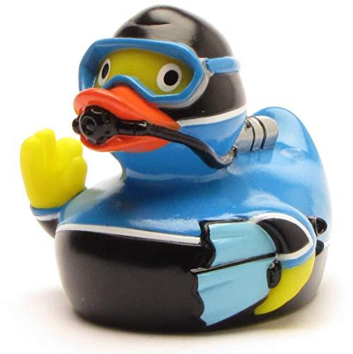 Duckshop I Badeente Taucher I Quietscheentchen I L: 8 cm - Ink. Badeenten-Schlüsselanhänger im Set