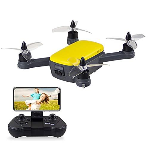 913 Drone GPS con videocamera HD 1080P, Drone FPV WiFi 5G per Adulti, Quadricottero RC con Motore Brushless, Gesto Foto/Video, Altitude Hold, GPS Return Home, Easy to Fly for Beginners (Yellow)