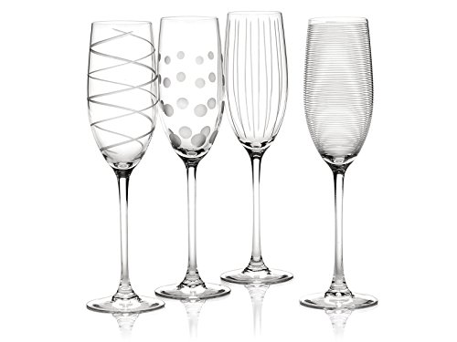 Creative Tops Mikasa 'Cheers', Bicchieri in Cristallo con Incisione Calici da Champagne Silver