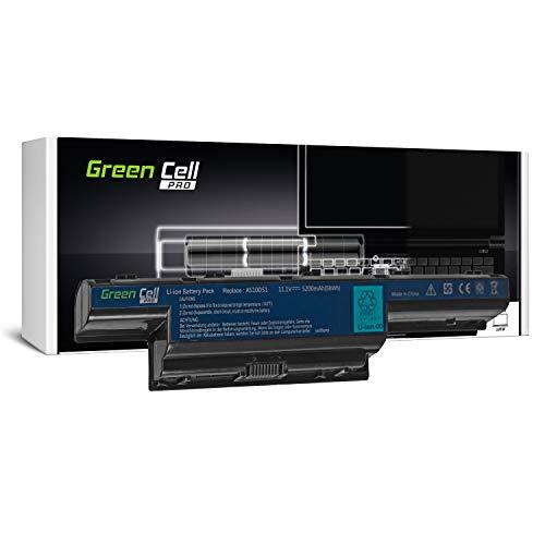 Green Cell PRO Serie AS10D31 AS10D3E AS10D41 AS10D51 AS10D61 AS10D71 AS10D73 AS10D75 AS10D81 Batería para Acer/eMachines/Packard Bell Ordenador (Las Celdas Originales Samsung SDI, 5200mAh)