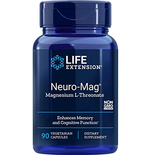 Life Extension, Neuro-Mag, Magnesium-L-Threonat, 2.000 mg, 90 vegetarische Kapseln