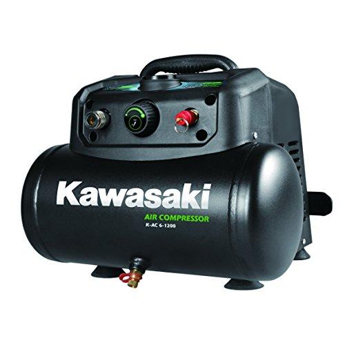Kawasaki Kompressor, Luftkompressor, 1200W, Ölfreier Motor, 8 Bar, 6 Liter Tank, tragbar, 180 l/min
