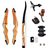 SinoArt 70' Takedown Recurve Bow Adult Archery Competition Athletic Bow Weights 14-40 LB Right Handed Archery Kit for Outdoor Training Hunting Shooting
