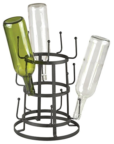 Esschert Design Flaschentrockner aus Metall, 24,0 x 24,0 x 35,0 cm