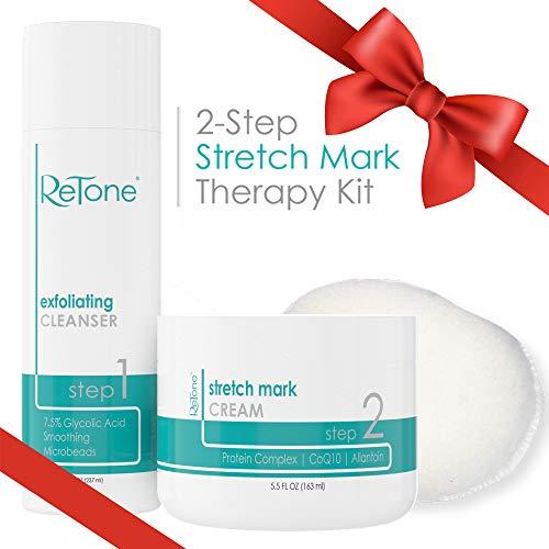 ReTone Stretch Mark Removal: Comprehensive Stretch Mark Treatment (Stretch Mark Cream + Body Cleanser + Body Scrubber) 1
