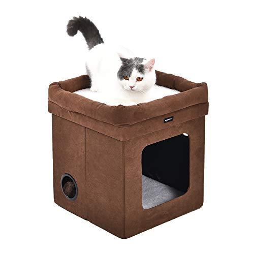 Amazon Basics - Casa para gato plegable, Marrón