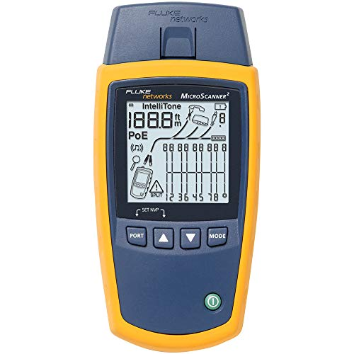 Fluke Networks MS2-100 MicroScanner2 Copper Cable Verifier with Built-In...