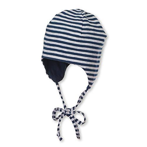 Sterntaler Wende-Mütze mit Bindebändern, Alter: 4-5 Monate, Größe: 41, Blau (Marine)