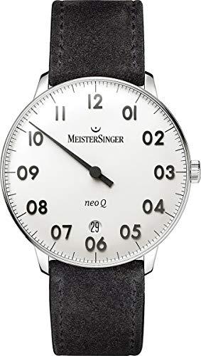 MeisterSinger Herrenuhr Einzeigeruhr mit Zusatzfunktion Neo Q NQ901N