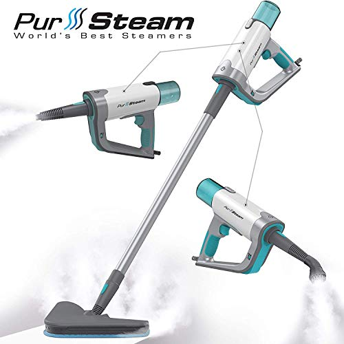 Steam Mop Cleaner ThermaPro Elite 12 in 1 for Hardwood/Tiles/Vinyl/Carpet - Easy-Detachable Handheld Steam Cleaner for Kitchen - Garment - Furniture and Clothes, Multifunctional Whole House Steamer