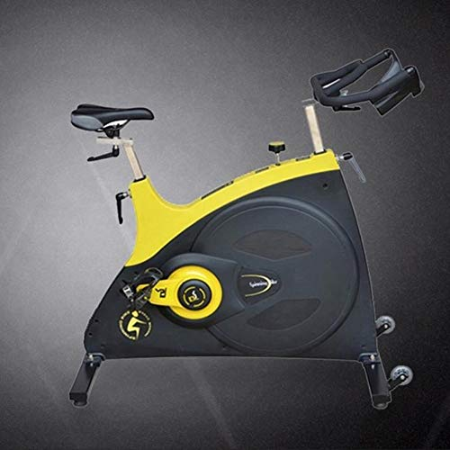 Spinning bike Indoor Exercise Bike Silent Shock Absorption Stepless Resistance Adjustment Adjustable Handles Home Outdoor Gym 1 Piece Yellow 10358114 cm 2