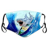 GIRDEAR Mouth Shield Breathable Reusable Outdoor Mouth Cover Surfing Shark Half Face Shield
