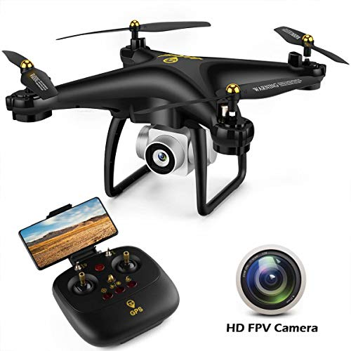 JJRC JJPRO GPS Drone, H68G RC Drone con videocamera HD 720P Video live 5G WiFi FPV Quadcopter con distanza di controllo 300m, Follow Me, Smart Return Home Modalit senza testa 3D Flip RTF (nero)