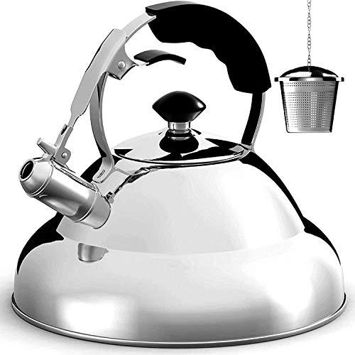 Tea Kettle Stovetop Whistling Tea Pot - 2.75 Quart,...