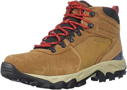 Columbia Men's Newton Ridge Plus II Suede Waterproof Hiking Boot Shoe, elk/mountain red, 11.5