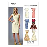 VOGUE PATTERNS V8972 Patron de Robe pour Femme Multicolore Taille A5 34 à 42