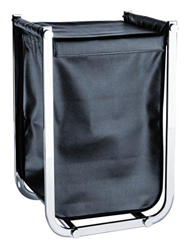 Möve Deco Wäschekorb Black, 35x40x61 cm, Edelstahl, 35 x 40 x 61 cm