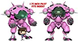 """Figurines POP! Vinyle Games Overwatch D.Va & 6"""" Meka"""