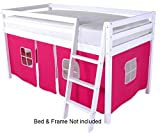 Lot de rideaux cabane rose pour lit superposé