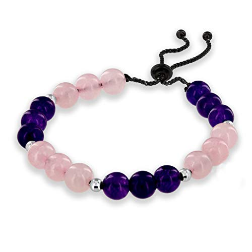 Believe London Amethyst Rose Quartz Bracelet Gemstone...