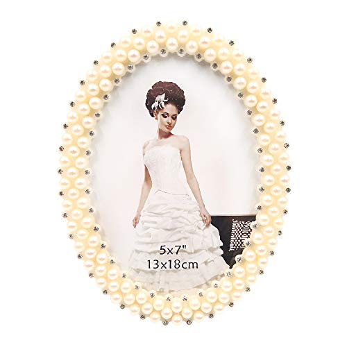 Abbie Home Wedding Photo Frame - 5x7 Inch Pearls Decorated...