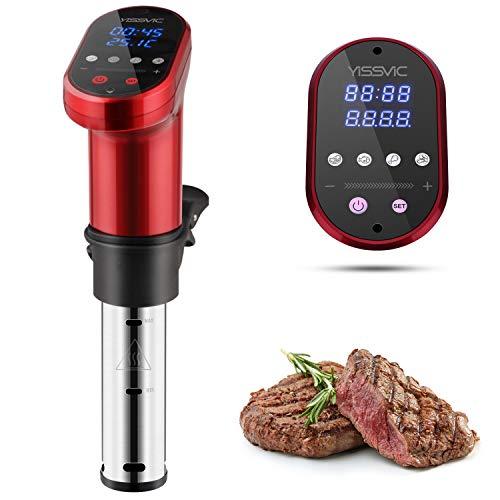 Yissvic Sous Vide 1200W IPX7 Roner Cucina a Cottura Bassa Temperatura Termocircolatore Professionale a Immersione Acciao Inox 304 per Cottura Sottovuto