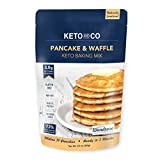 Keto Pancake & Waffle Mix by Keto and Co   Fluffy, Gluten Free, Low Carb Pancakes   2.0g Net Carbs per Serving   No Sugar Added   Diabetic & Keto Friendly   Makes 30 Pancakes