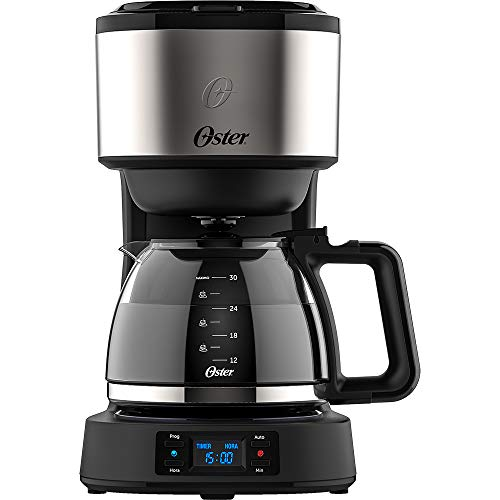 Programmable Day Light Coffee Maker, Stainless Steel, 220v, Oster