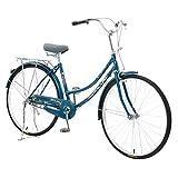 26 Inch Women's Cruiser Bike,Classic Bicycle Retro Bicycle Beach Cruiser Bicycle Retro Bicycle (Women's Bike,Lady, Gloss Blue)