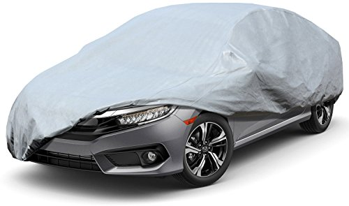 Leader Accessories Xtreme Guard 5 Layers Waterproof Breathable Outdoor Indoor Car Cover All Weather (Cars up to 19'0'(228'))